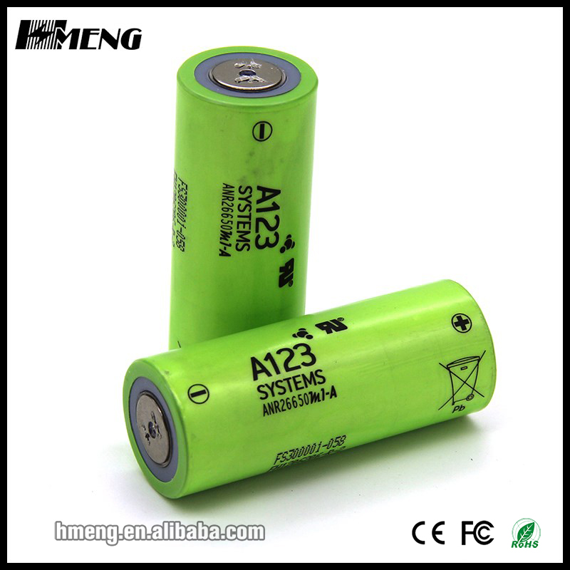 Original A123 battery LiFePO4 Cell 2300mAh 3.2V 26650 li-ion lithium battery