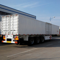 Box semi trailer with side door can design according to your requirements