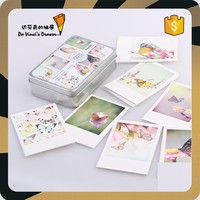 Small Colourful Butterflies Design Paper Craft message card with ivory box