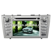 "7"" 2-Din Car DVD player for Toyota Camry with 8CD Virtual,USB,SD,FM,IPOD,BT,TV,GPS and IPHONE menu"