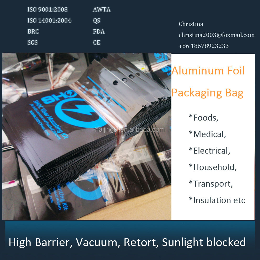 aluminum foil bag for toy packing sealer