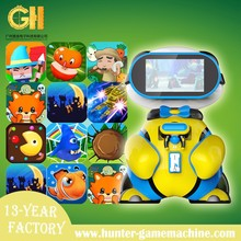 Attractive children vr video game machine cute looking bear baby vr with hand-held glasses