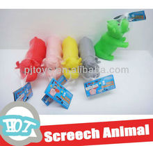 soft plastic cow with screech vivyl animal toys rubber toy
