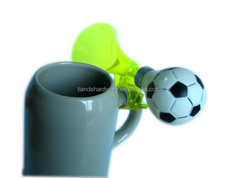 low cost promotional plastic bike horn air horn for beer cup beer mug bell colourful bicycle accessories