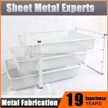 3-tier metal sliding wire/mesh basket pull out storage drawers