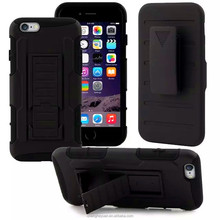 Made In China Hybrid Holster Belt Clip Stand Hard Case Cover For iphone 6 plus