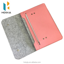 High Quality Wool Felt Laptop Sleeve for Ipad Air 2 Tablet Case for Macbook air 11 13 14 15