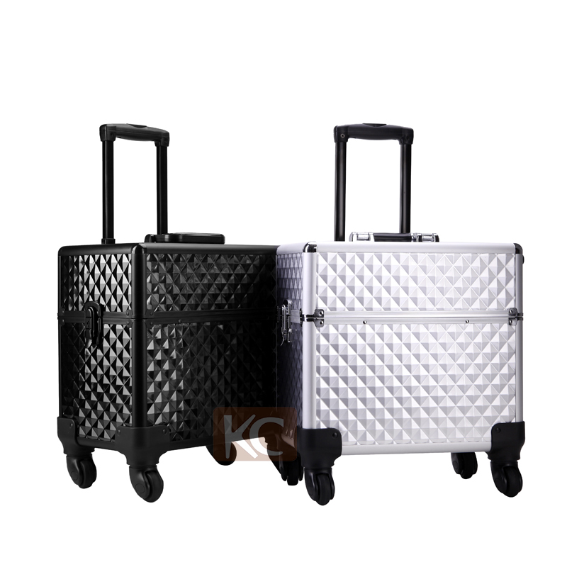 Beautiful Aluminum makeup vanity box For Hairdresser