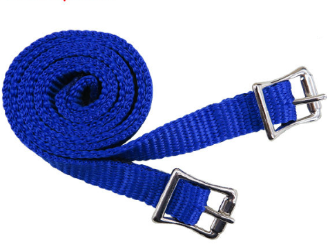 PP webbing for English spurs,with Zinc die casting buckles for horse riding/horse racing (Webbing-blue)