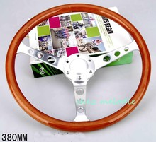 15'' 38cm universal vintage classic wood bus racing car steering wheel with horn button all handmade, OEM welcomed
