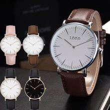 private label leather wrist watch women Low moq