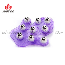 Metal Roller Ball Beauty Body Palm Shaped Massage Glove