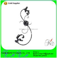 decorative wrought iron plastic scrolls for invitations