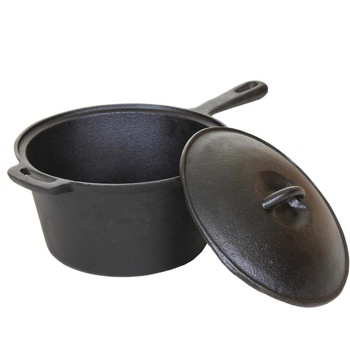 2 Quart Cast Iron Sauce Pan 3QT Pre-Seasoned Cast Iron Sauce Pot