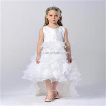 New style Child summer floor-length ruffle flower princess formal birthday girl dress