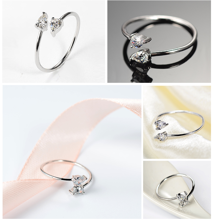 Hot selling sterling silver rings jewelry women china supplier