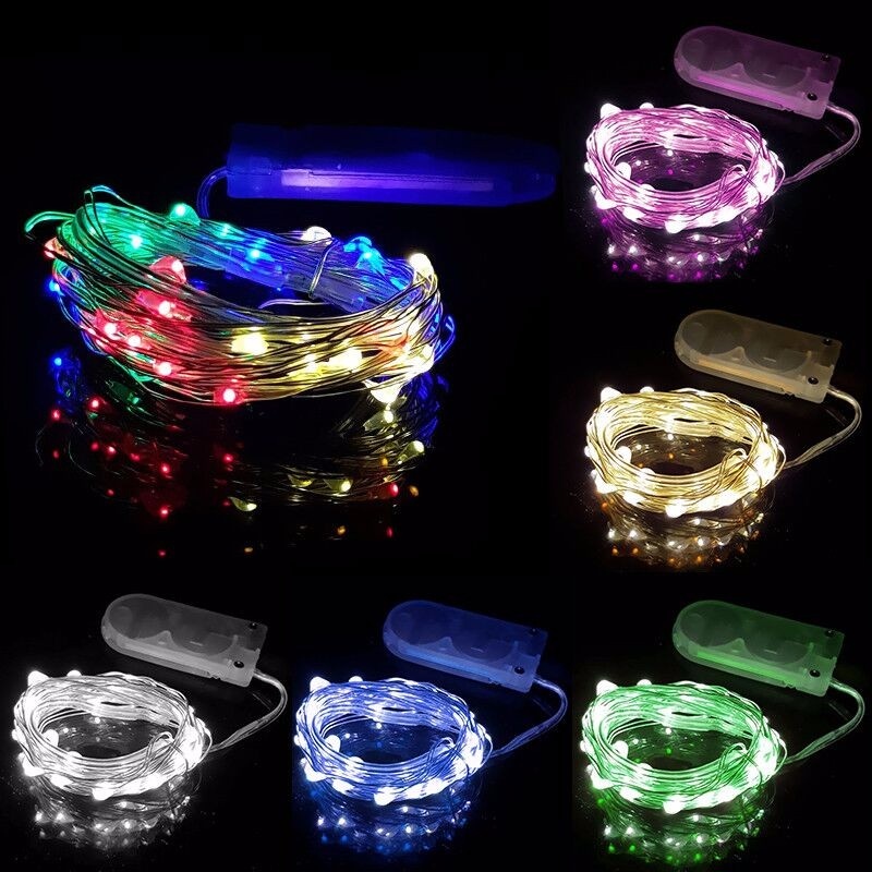 Outdoor Christmas Flower Decoratives Time Battery Operated Micro Led Fairy String Lights