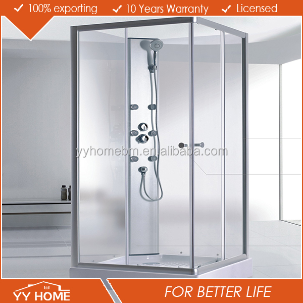 Frameless Spare Parts Tempered Hinged Shower Enclosure /Cubicle