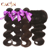 Cheap grade 8a virgin 3 bundles peruvian body wave hair with lace frontal closure,9A grade Brazilian hair weave sample