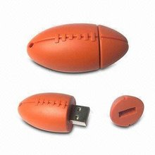PVC american football usb flash drive promotional gift 1GB 2GB 4GB 8GB 16GB 32GB 64GB