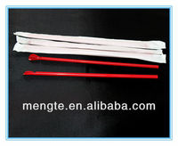 yiwu paper wrapped long plastic red spoon straw