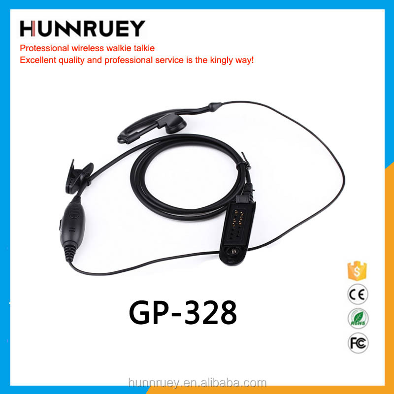 Earphone Headset For Two Way Radio Gp328 Noise Cancelling Aviation Headset