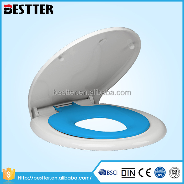Modern family use adult and children's sanitary touch toilet seat