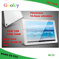 Hard Drive Capacity 16gb 10'' tablet super touch screen with 3g phone call function