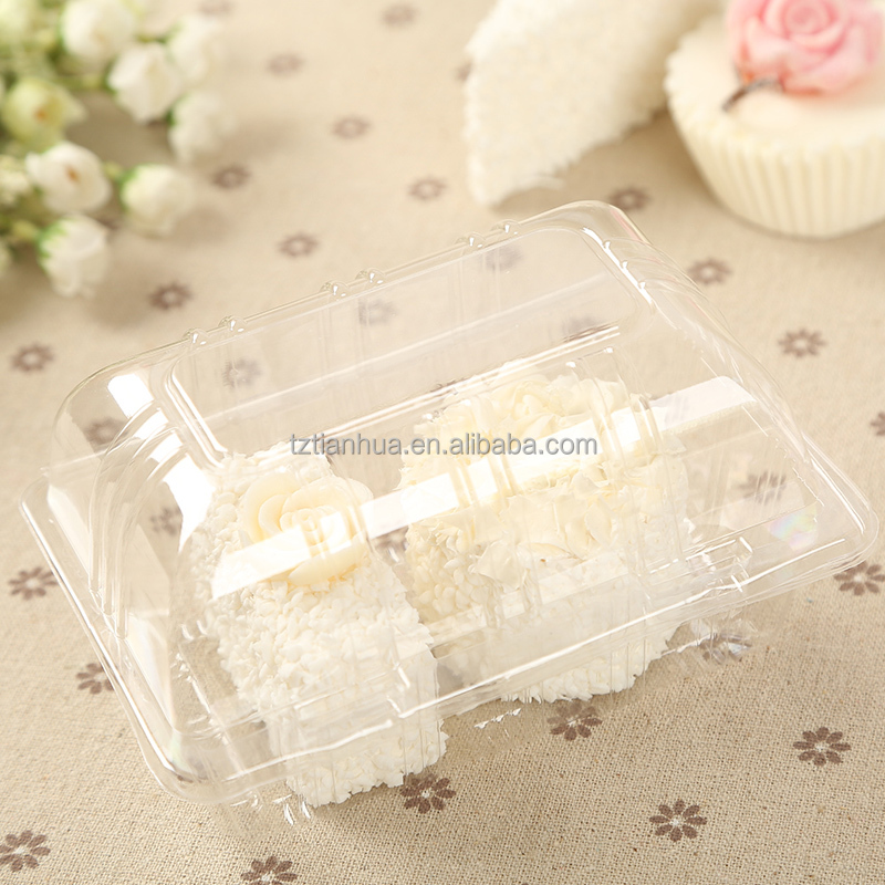 OPS plastic clamshell cookie packaging cake piece container