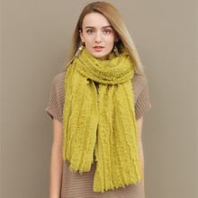 Best-selling and high quality tassel female 100% cashmere knitted scarves shawls for women