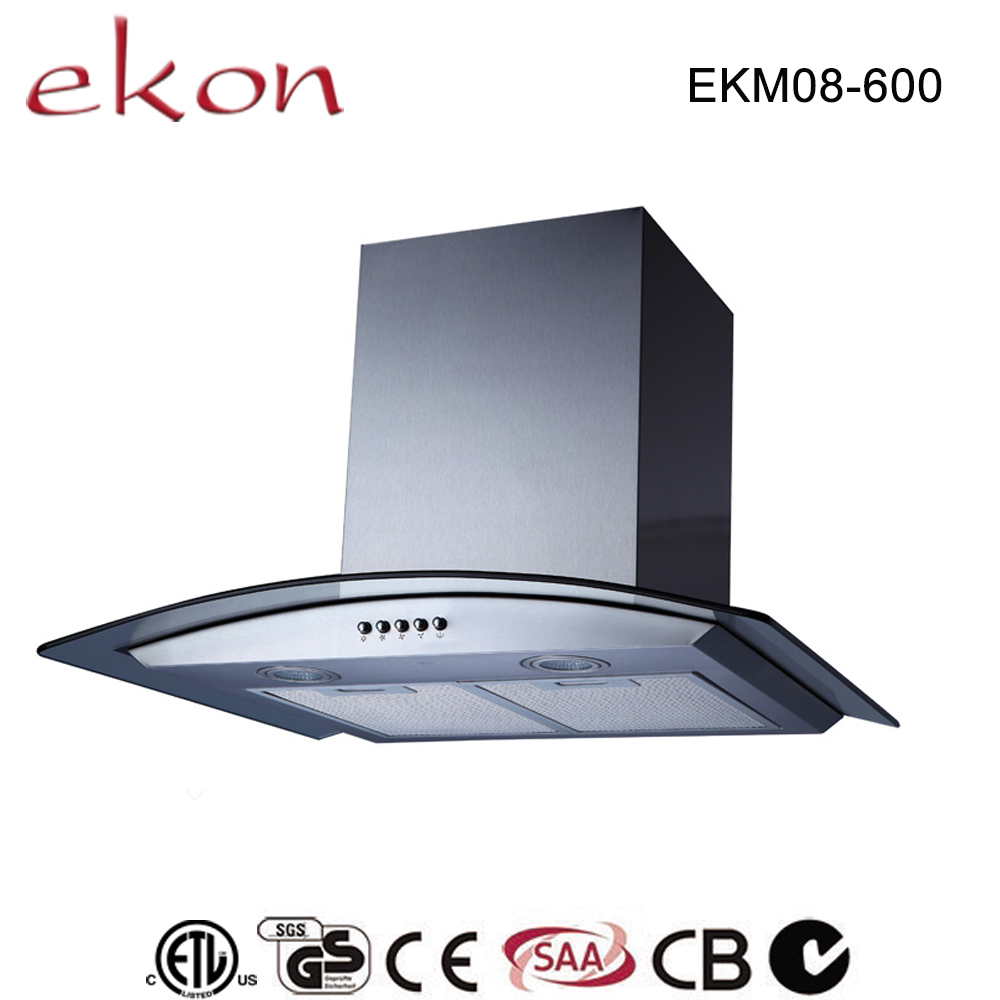 600mm new 2016 ductless premium stainless steel low noise angled restaurant kitchen <strong>exhaust</strong> hoods with baffle filter