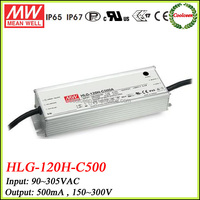 Meanwell 500ma constant current led driver 150w HLG-120H-C500