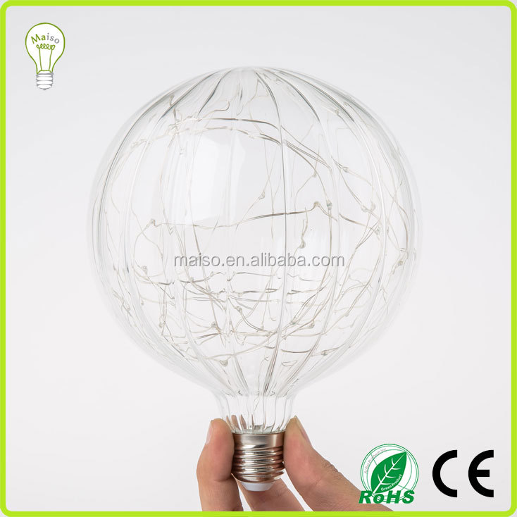 Party Decor Globe String LED Lights bulbs for indoor outood copper led lamp
