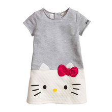 HOT 2017 Baby Girls Dresses Hello Kitty Children Dresses For Girls Princess Dress Christmas Kids Clothes