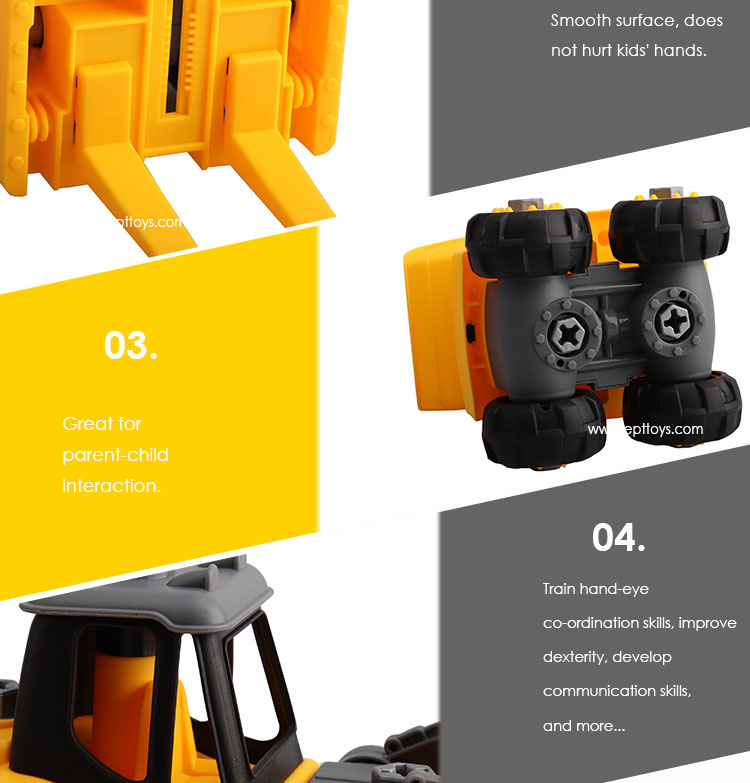 2019 Latest Amazon Hot Sale Yellow Forklift Toy Truck