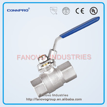 full flow female long threads flat lever handle Lockable ball valve