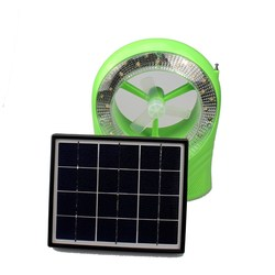 Solar Power Mini Fan with LED light and Radio Function Portable Solar Lamp