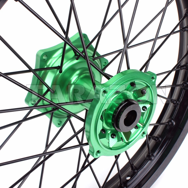 Aluminum offroad motorcycle spoke rear wheels for kawasaki KX125 250