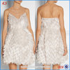 Hot Sales Factory Price High Quality Feather Bubble Casual Mini Boutique Dresses Cocktail Dress