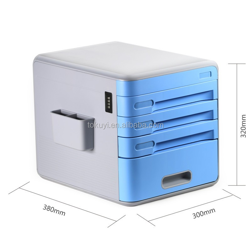 High Quality 4 Drawer Steel File Cabinet with plastic index card and coded lock