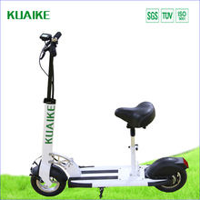 2 wheels folding cheap electric scooter for adult with seat 350w 18.2ah new design