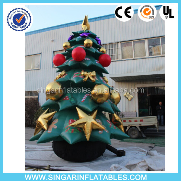 Customized giant inflatable christmas tree yard decoration,inflatable tree with ornaments