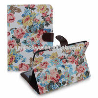 Fashion design case for iPad mini Retina jeans cover with flower