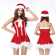 Red Lolita Christmas Cosplay Uniform Sexy Lingerie Costumes Sexy Babydolls Outfit Underwear Nightgowns Sleepwear