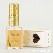 Wholesale high quality no wipe shinning top coat gold royal package non toxic base coat nail polish OEM/ODM