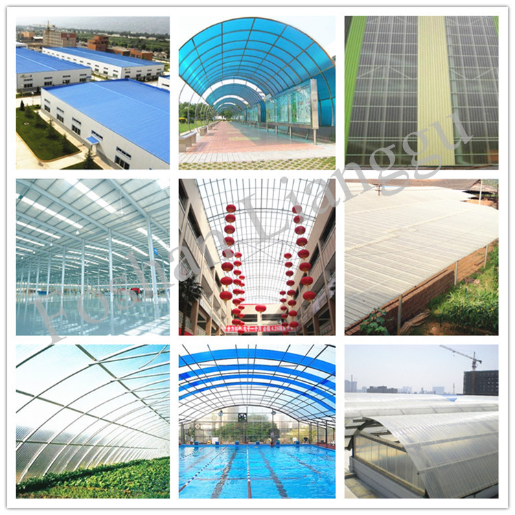 frp plastic shed roof sheet for bus station