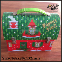 Cute christmas clear cookie tin box/christmas tin box for cookie