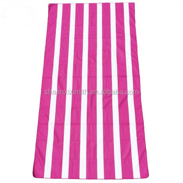 Cabana stripe 100% cotton circle beach towel/terry towelling fabric ,Custom printed towel