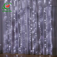 9.8 ft <strong>X</strong> 9.8ft Warm White Twinkle Star Window Curtain LED String Light with <strong>Remote</strong> for Outdoor Indoor Decoration