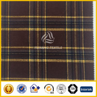 Machine washable flannel check wool fabric